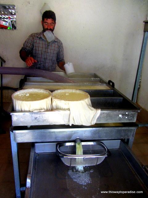 Local cheesemaker in Crete