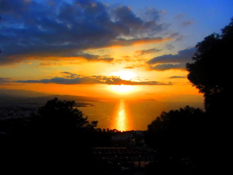 Sunset from Koukouvaya in Chania