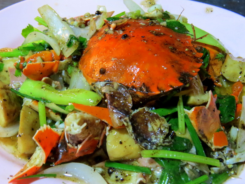 Salt and pepper crab visiting Thailand, best places to visit in Thailand