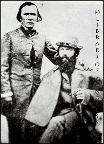 Kit Carson with John C. Fremont (Library of Congress)