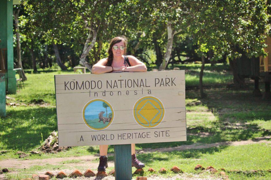 Komodo National Park sign, Indonesia