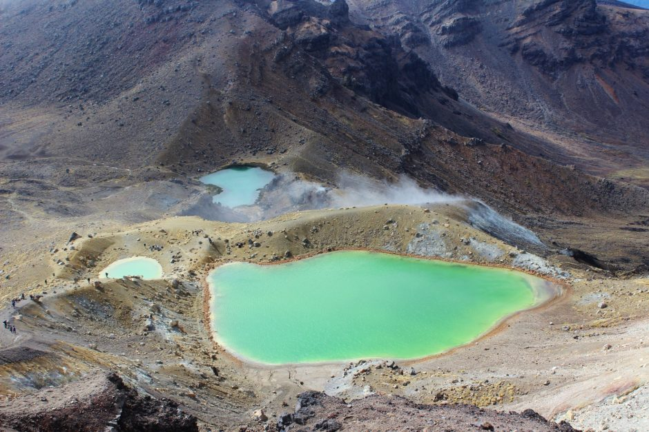 The Emerald Lakes on the Tongariro Alpine Crossing, New Zealand