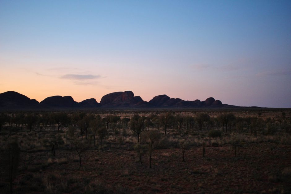 Kata Tjuta after sunset, Australia