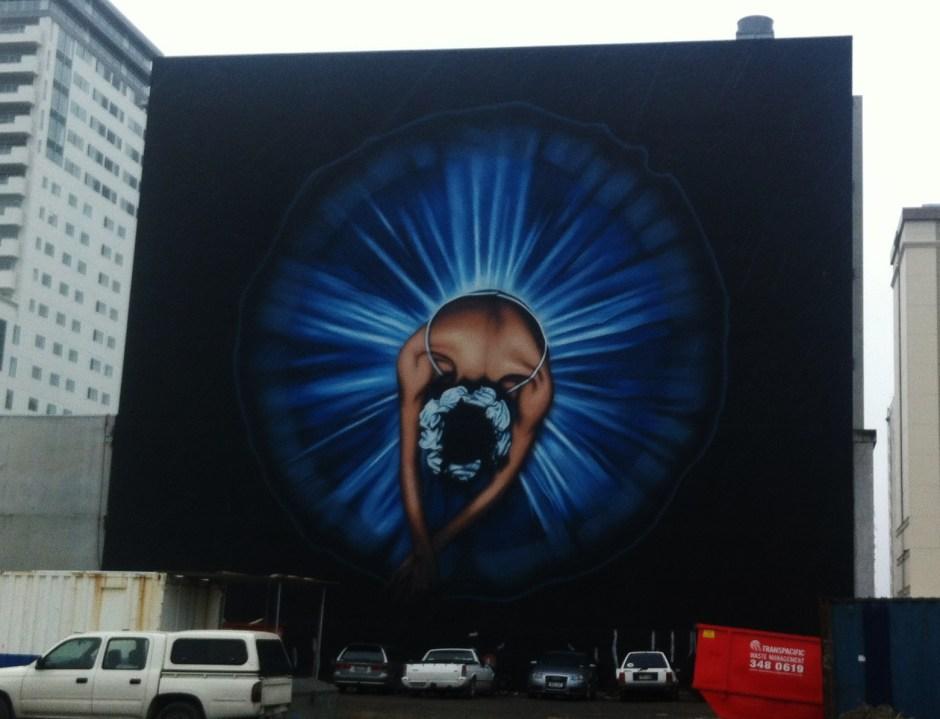 A ballerina mural in Christchurch, New Zealand