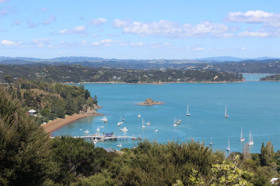 View over Russell in the Bay of Islands, New Zealand