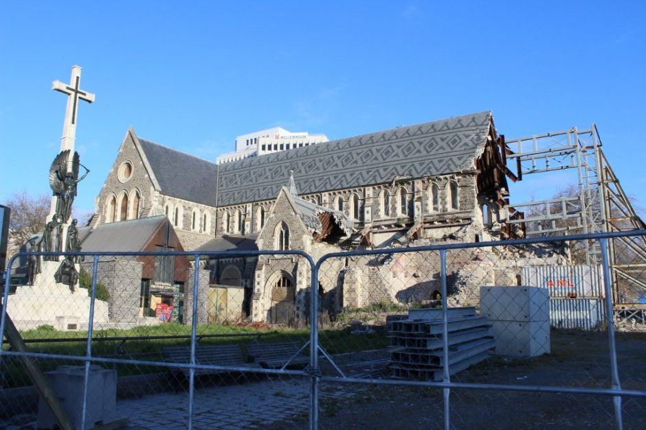 The extensive damage to the Christchurch Cathedral, New Zealand