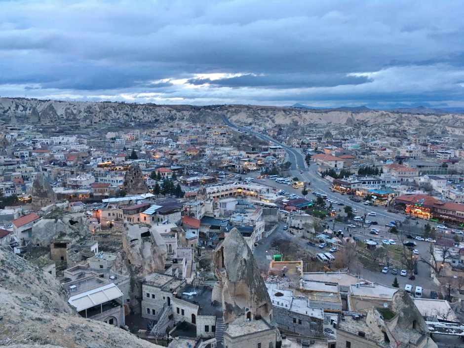 The view over the town of Goreme, Cappadocia, Turkey