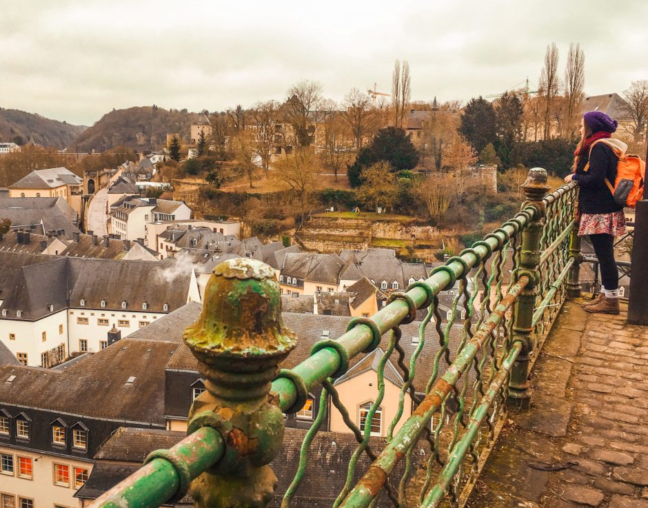Looking out over the rooftops of Luxembourg