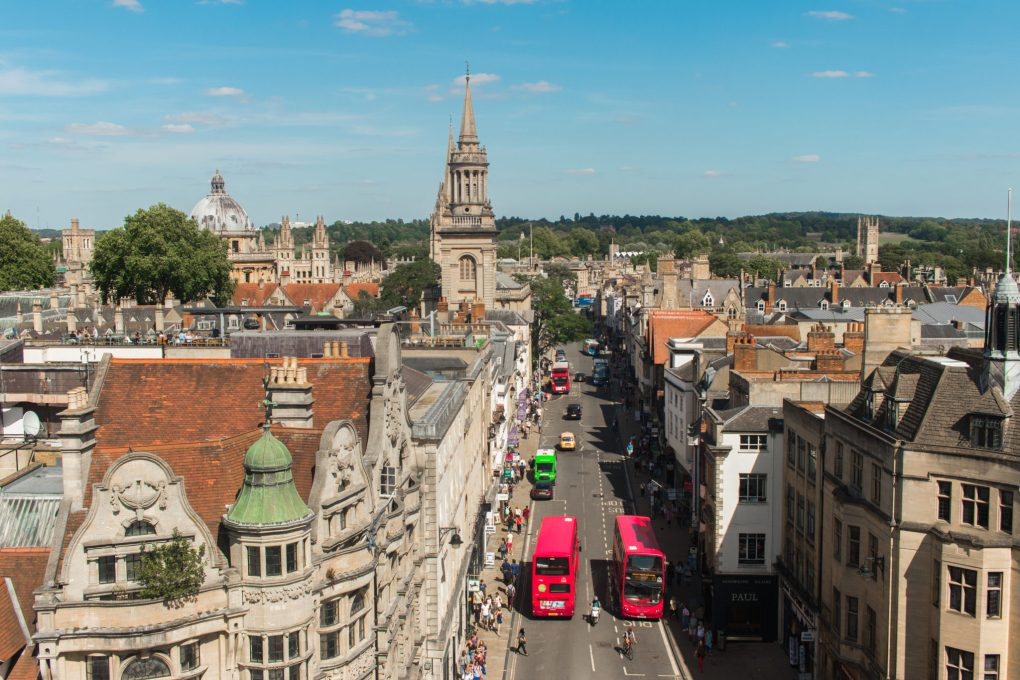 The view from Carfax Tower, Oxford, UK