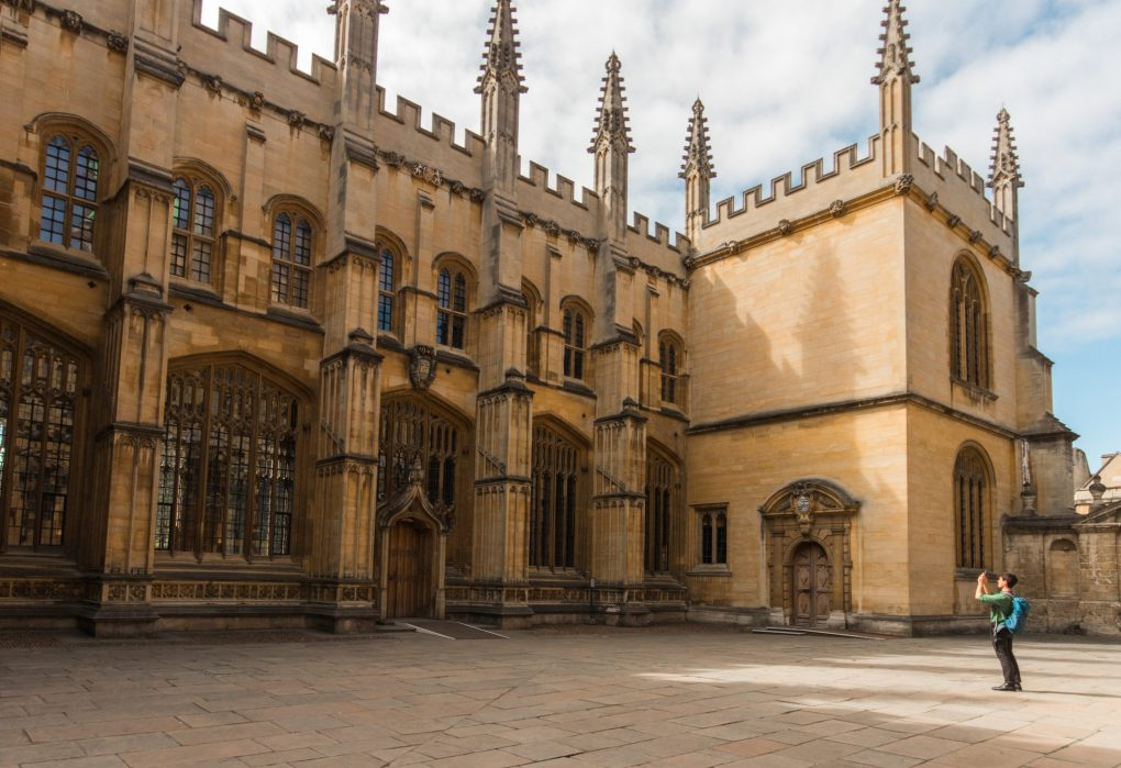 The beautiful architecture of Oxford University, UK