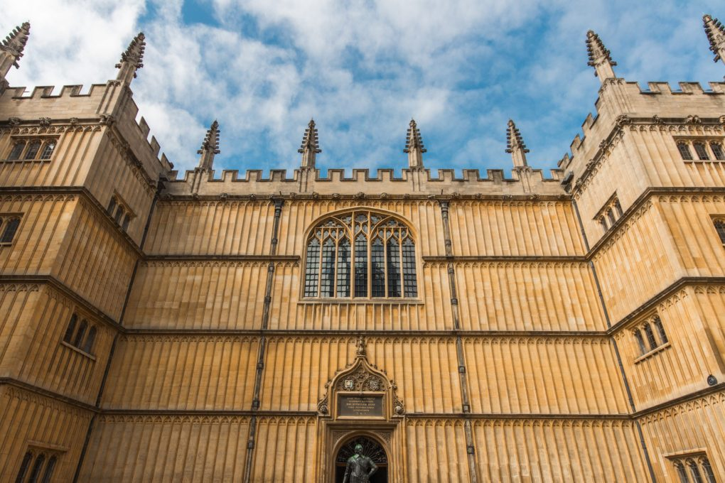 The exterior of part of Oxford University, UK
