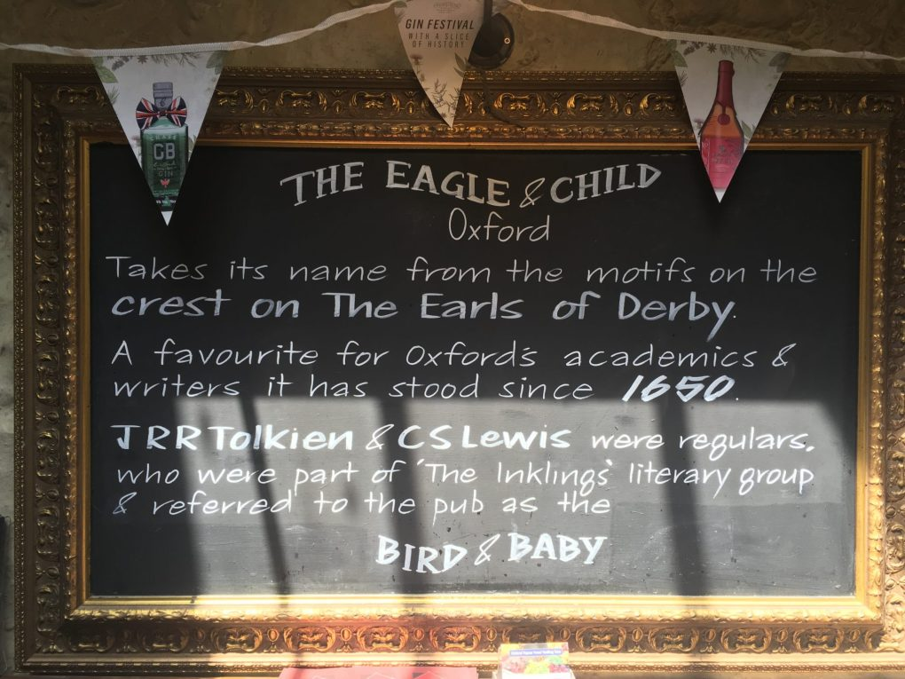 The Eagle and Child, Tolkien and Lewis' favourite eating place, in Oxford, UK