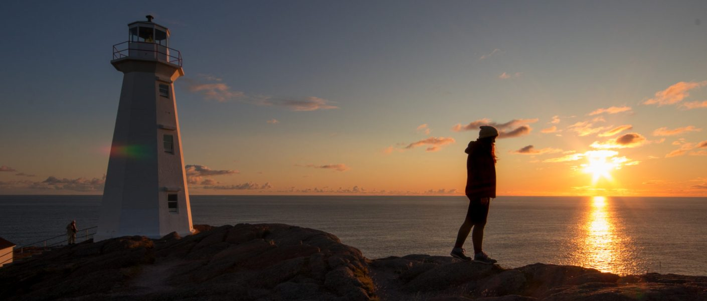 Sunrise at Cape Spear, near St. John's, Canada. My travelling lifestyle.
