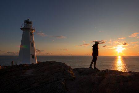 Sunrise at Cape Spear, near St. John's, Canada