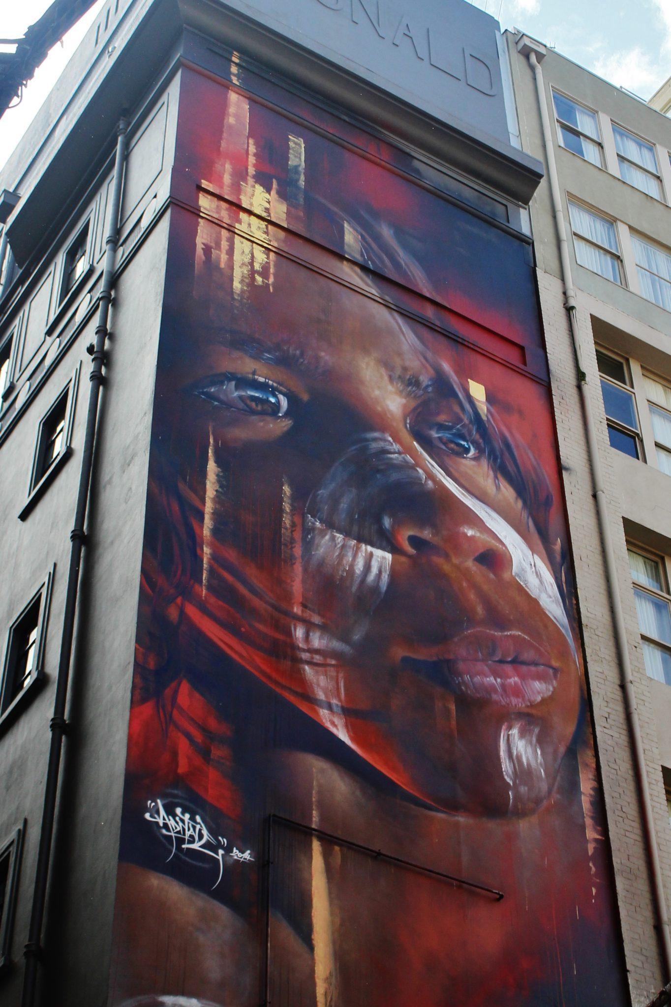 Aboriginal Street Art in Melbourne, Australia