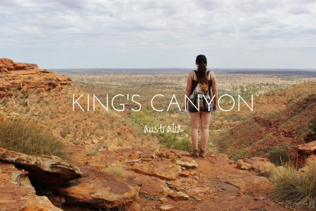 Wandering King's Canyon in the Australian Outback