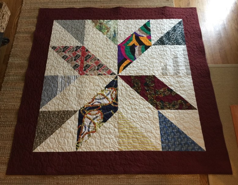 Classic HST Star Memory Quilt