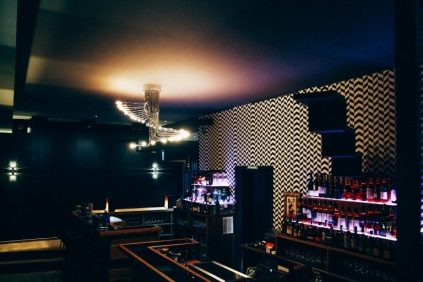 Die Bar der Stairs Bar in Berlin