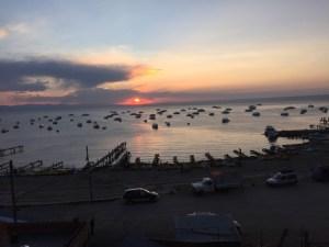 Sonnenuntergang Titicacasee(Copacabana)