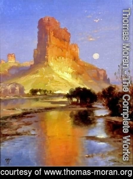 Thomas Moran - Castle Butte, Green River, Wyoming Territory