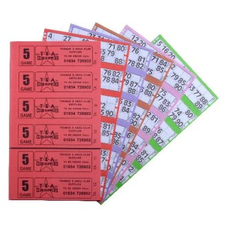 Thomas and Anca Bingo Ticket Booklets 6 to View 3000 5 Game Bingo Ticket Books 6 or 12 to View