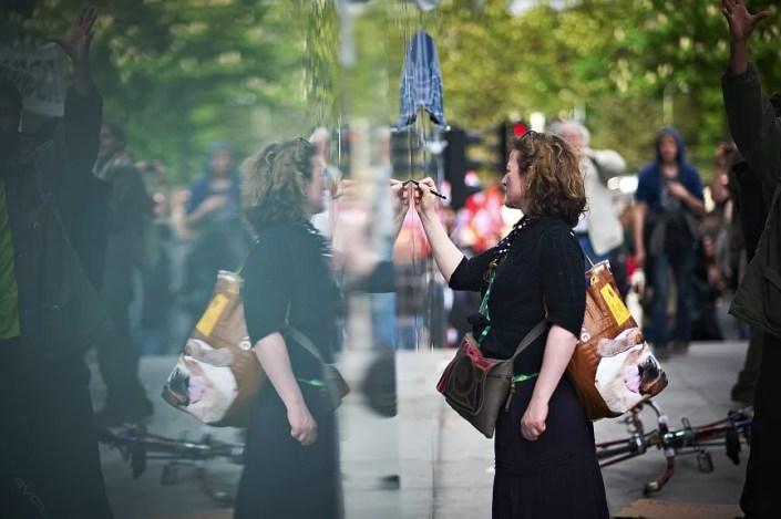 Manifestation des indignes à Bruxelles, le 12 mai 2012