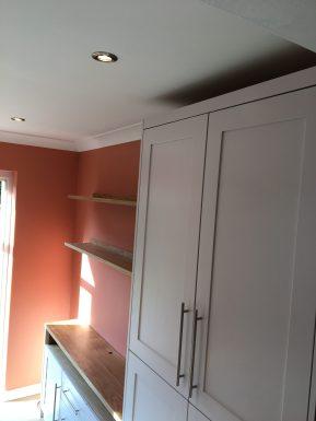 Bespoke storage cupboard and shelving