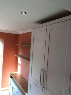 Bespoke storage cupboard and shelving