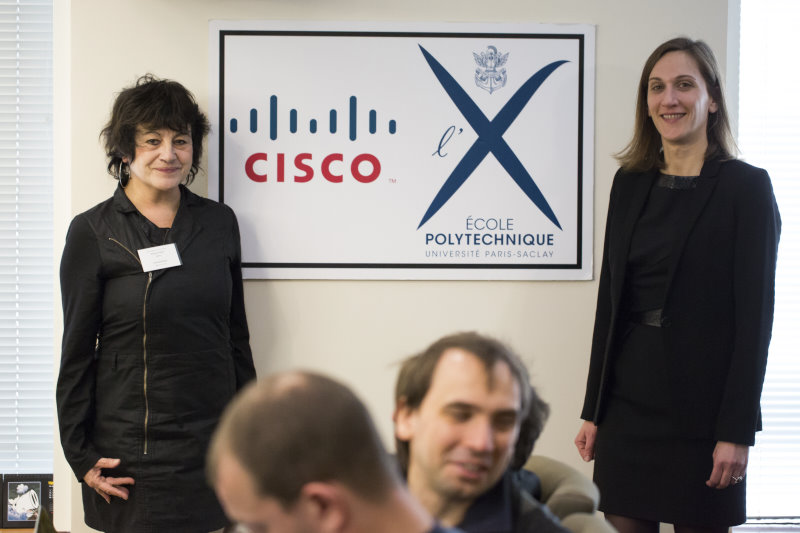 Evelyne Rayssac (Ecole Polytechnique) and Carole Raynaud (Cisco France)