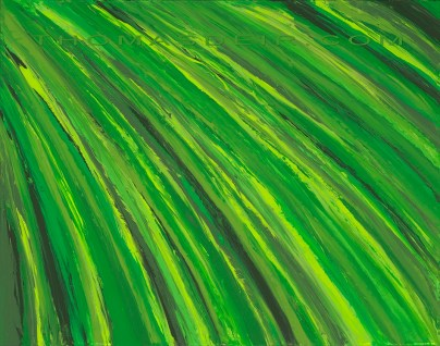 tropical plants abstract painting