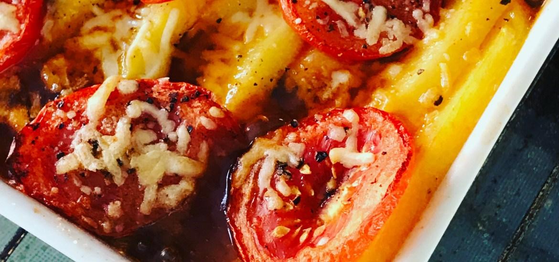 Polenta-Auflauf mit Tomaten