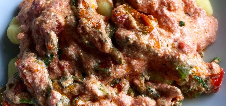 Gnocchi mit Zucchiniblüten und Ricotta