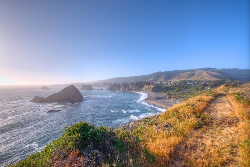 View from house Sea Arches for sale by Thomas Henthorne Mendocino