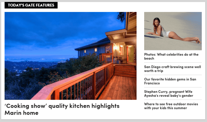 85 Oakmont featured in SF Gate Thomas Henthorne top real estate agent Marin