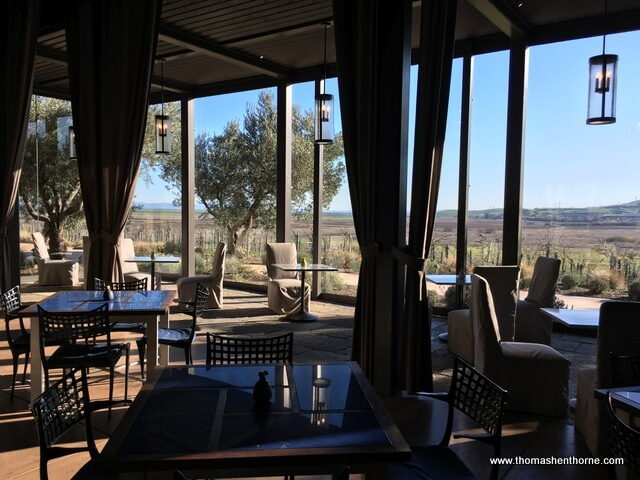 photo of member's only dining room at Ram's Gate winery