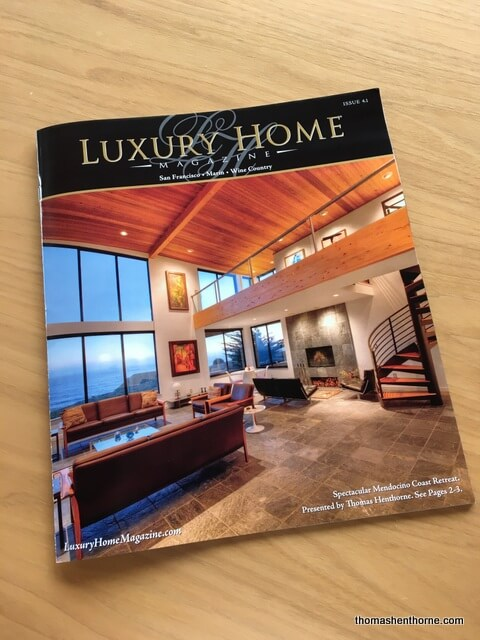 Mendocino Coastal Home For Sale Sea Arches On The Cover Of Luxury Home Magazine