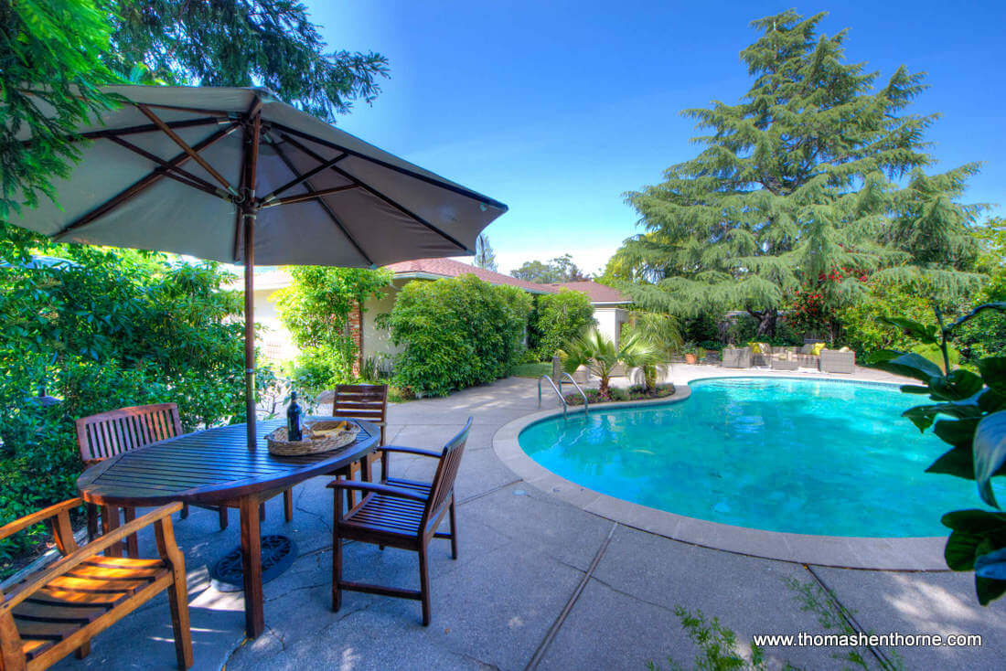 Outdoor Table and Pool