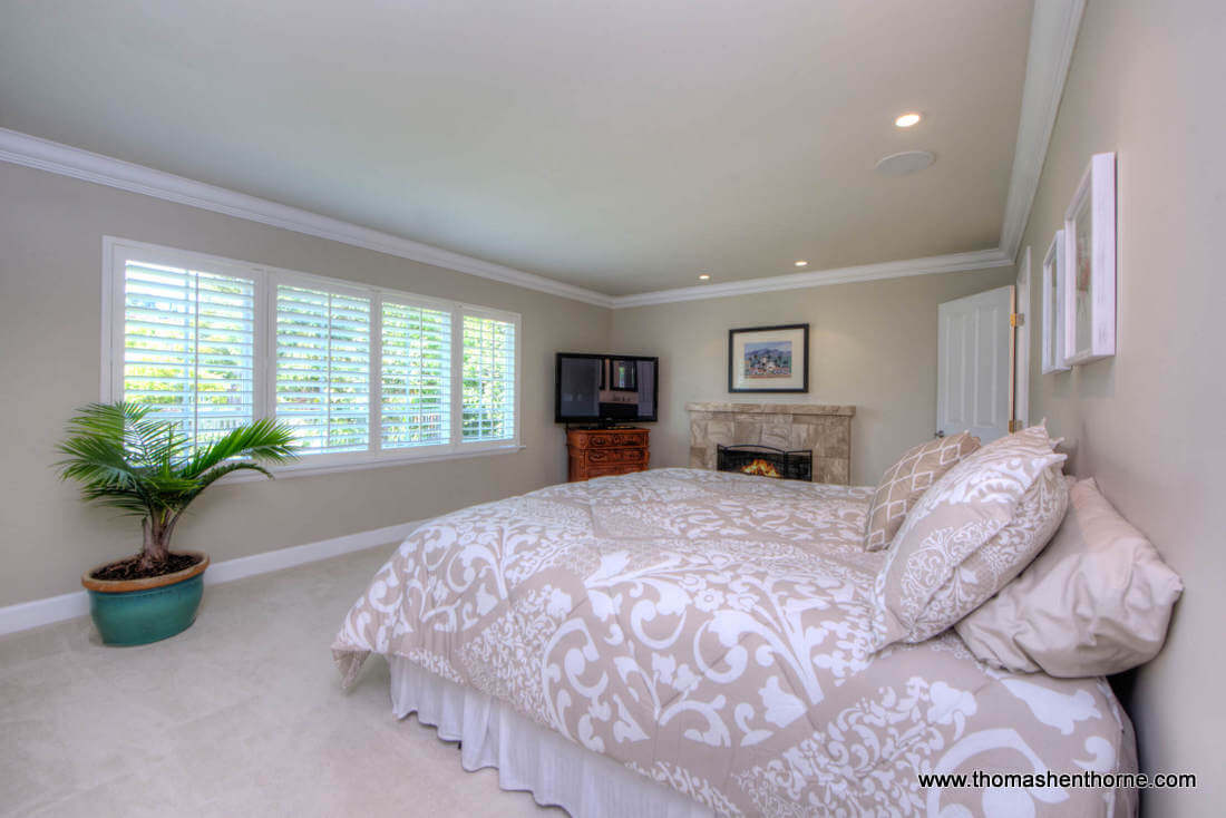 Second Master Bedroom With Fireplace