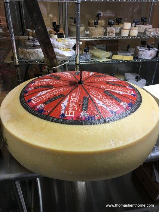 huge wheel of cheese