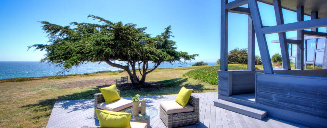Side Deck Seating Area Bodega Bay Home For Sale