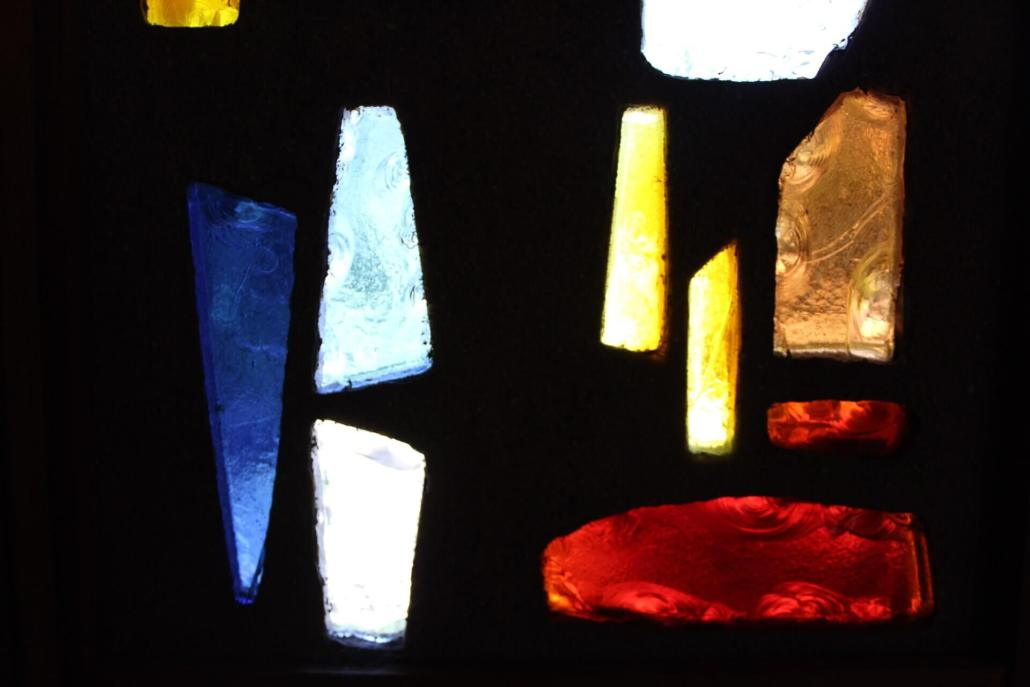 stained glass at 215 Locust San Rafael