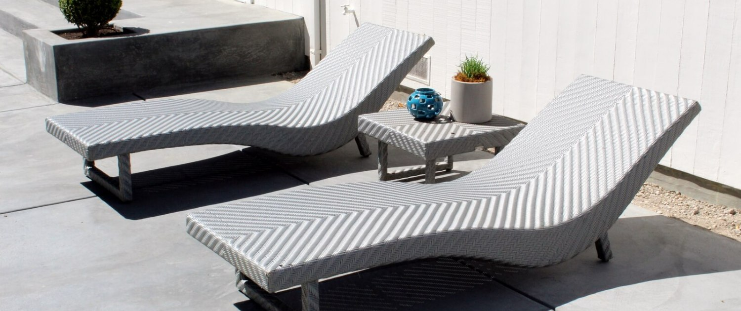 lounge chairs on back patio