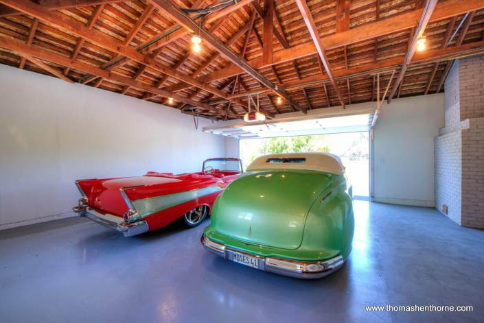 Classic cars in garage of 65 Los Ranchitos Road San Rafael