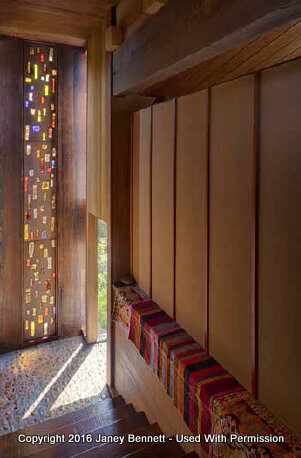 Entry way with glass art
