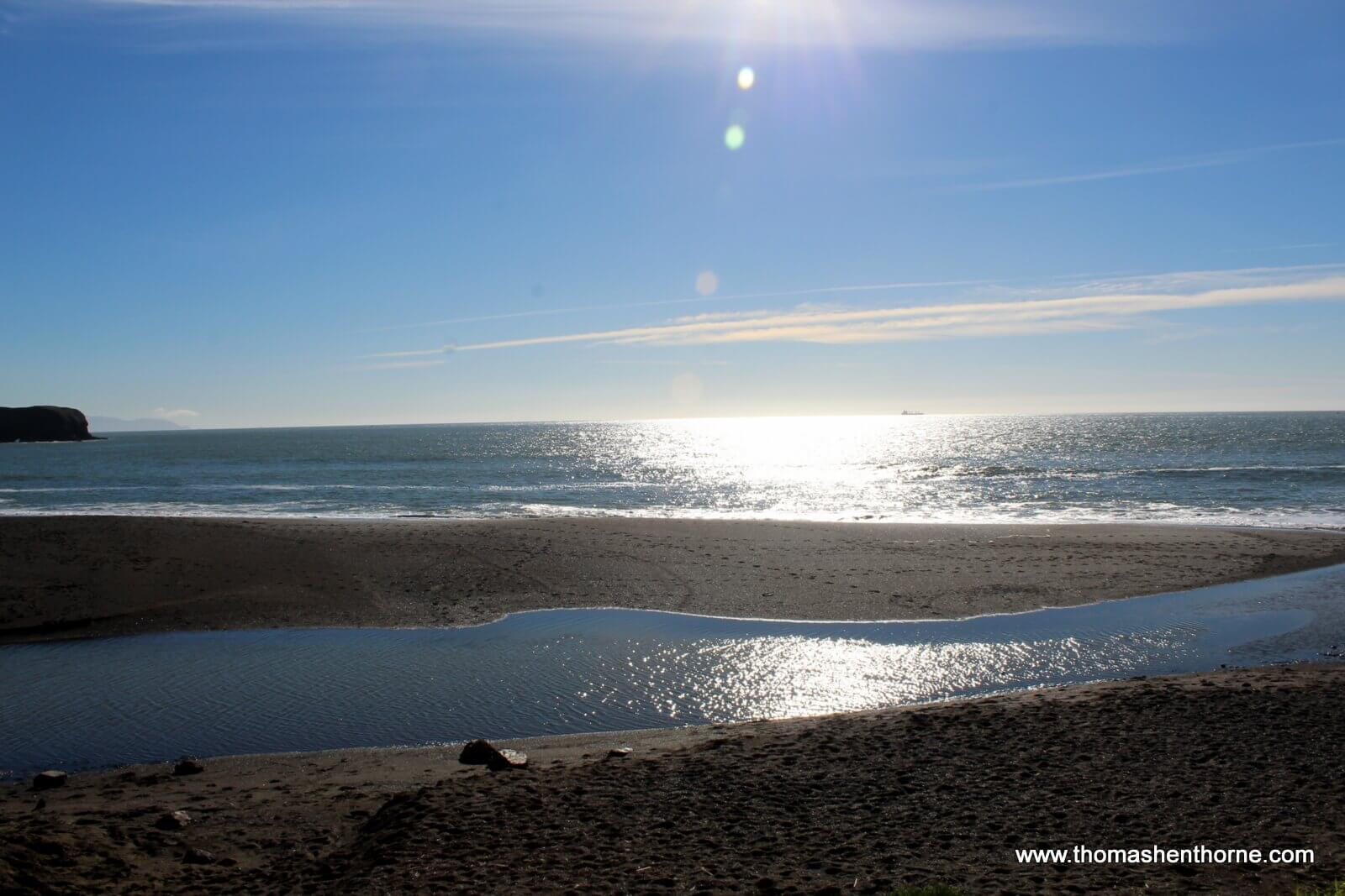 View of ocean at Rodeo Beach