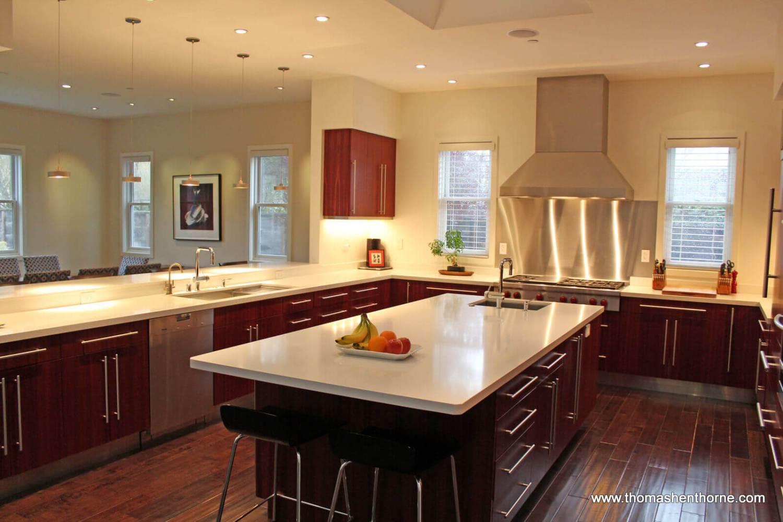 Kitchen at 493 Washington Court in Tiburon, California