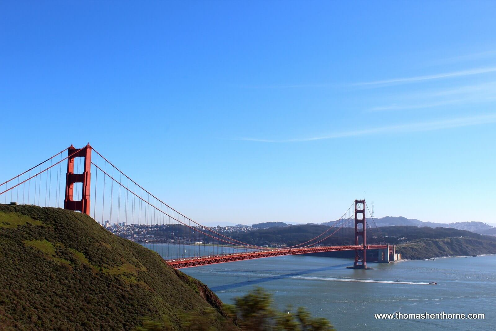 Golden Gate Bridge view from Marin Headlands