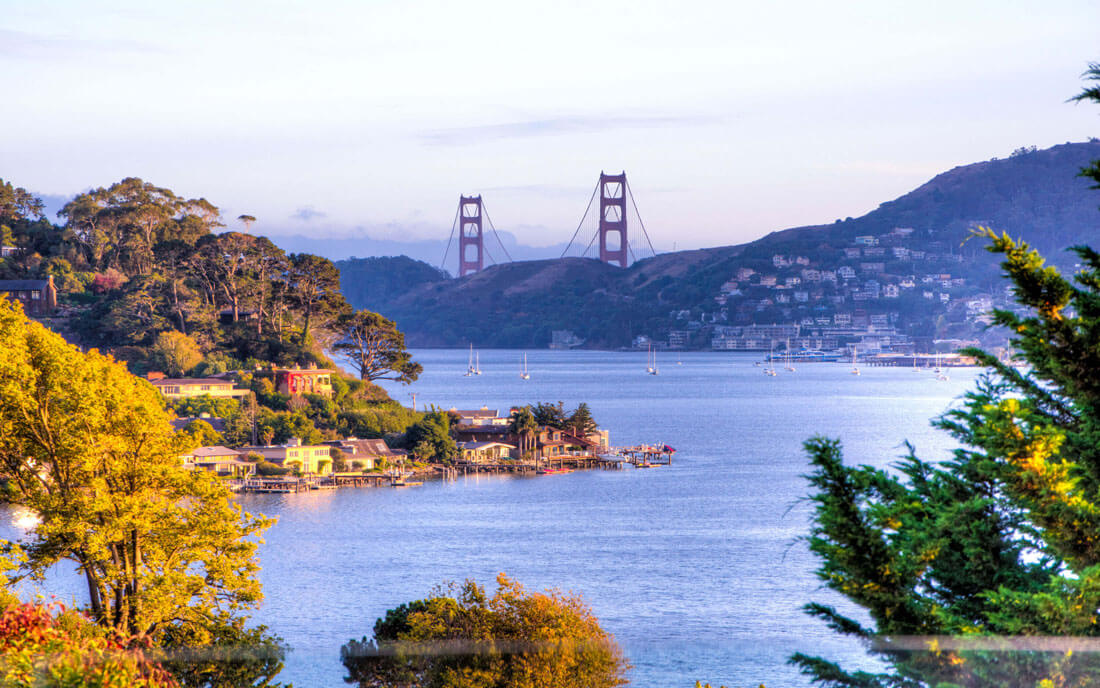 View of Golden Gate Bridge from Tiburon
