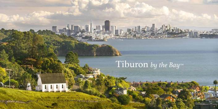 Tiburon, California looking to San Francisco