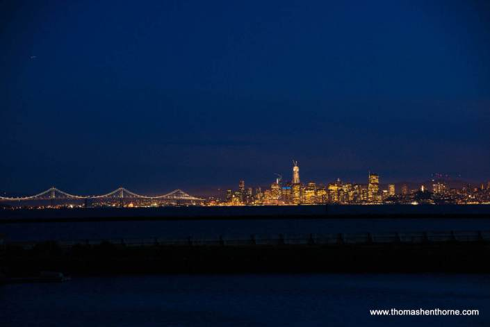 View of downtown San Francisco from Point Richmond, California